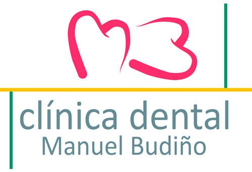 logo clinica dental manuel budiño en santander, cantabria